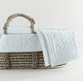 Heirloom Quilted Voile Moses Basket Bedding & Ash Basket Set