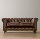 "58"" Mini Kensington Leather Sofa"