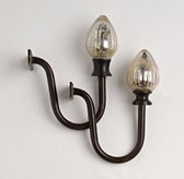 Mercury Glass Acorn Tiebacks (Set of 2)