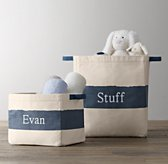 Vintage Canvas Storage - Washed Blue