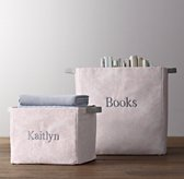 Printed Canvas Storage Bins - Petal Damask
