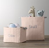 Printed Canvas Storage Bins - Antique Stripe