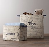 Printed Canvas Storage Bins - Airplane