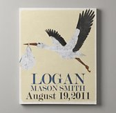 Personalized Stork Nursery Art