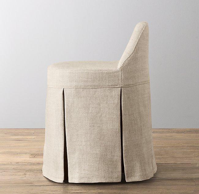 Super Maxine Vanity Stool Stocked Slipcover Creativecarmelina Interior Chair Design Creativecarmelinacom