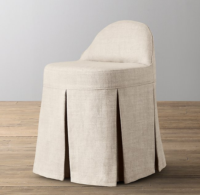 Swell Maxine Vanity Stool Stocked Slipcover Unemploymentrelief Wooden Chair Designs For Living Room Unemploymentrelieforg