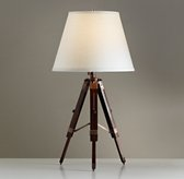 Surveyor's Table Lamp Base - Coffee