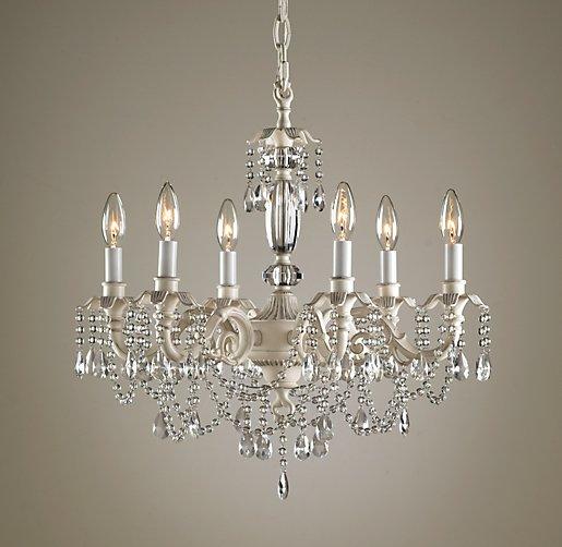 Brocade 6 arm chandelier aloadofball Gallery