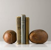 Vintage Leather Sports Ball Bookend