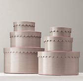 Scalloped-Edge Nesting Boxes - Petal