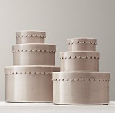 Scalloped-Edge Nesting Boxes - Ivory
