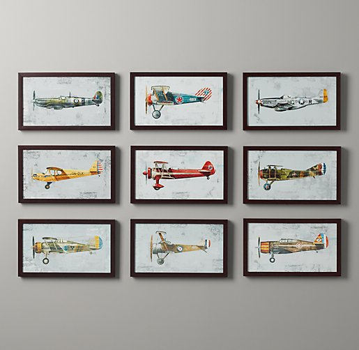 10 Great Baby Room Ideas For Parents To Use In Their: Vintage Prop Plane Art