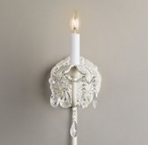 Brocade Single Sconce Aged White