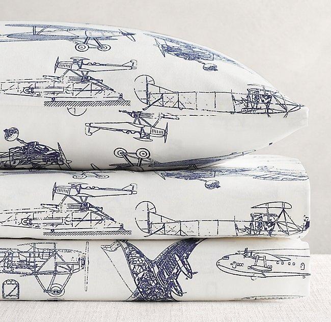 Vintage Airplane Blueprint Sheet Set Rh Baby Child