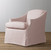 Demi Sloped Arm Slipcovered Swivel Glider