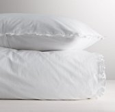 European Vintage-Washed Ruffle Duvet Cover