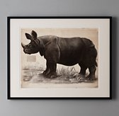 African Animal Art - Rhino