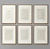 18th C. English Sheet Music Art (Set of 6)