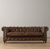 "70"" Mini Kensington Leather Sofa"
