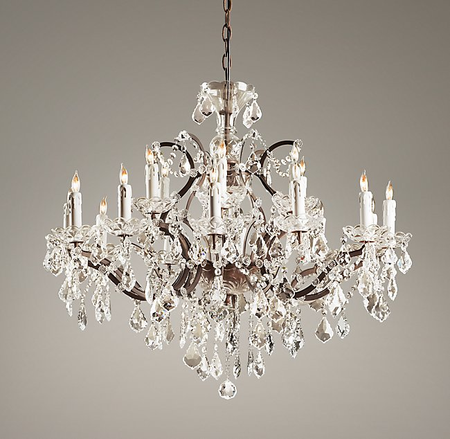19th c rococo iron crystal large chandelier mozeypictures Gallery