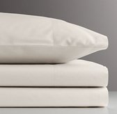 Vintage-Washed Percale Crib Fitted Sheet