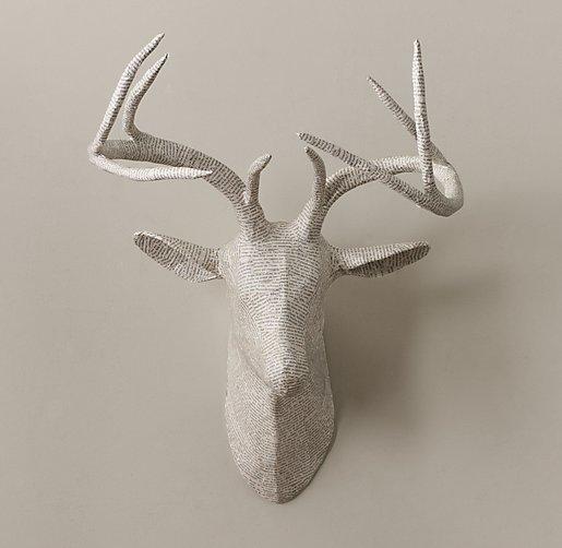 Papier m ch stag head - Cardboard stag head ...