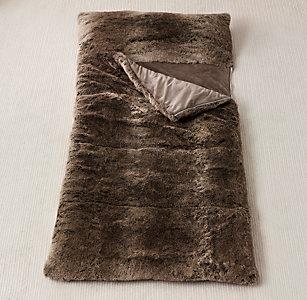 d5f5ba592ba6 Luxe Faux Fur Sleeping Bag - Mink