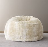 Luxe Faux Fur Bean Bag - Arctic Fox