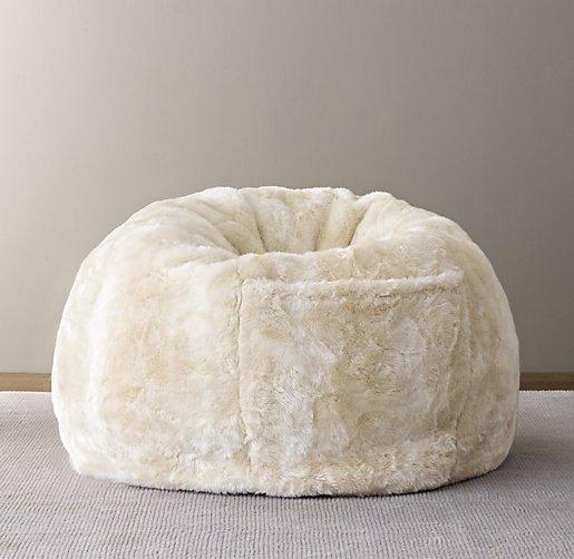 faux fur bean bag Luxe Faux Fur Bean Bag   Arctic Fox faux fur bean bag
