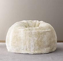0e7555979f Luxe Faux Fur Bean Bag - Arctic Fox
