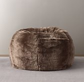 Luxe Faux Fur Bean Bag - Mink