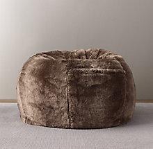 92ad9271a0 Luxe Faux Fur Bean Bag - Mink