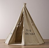 Distressed Canvas Surplus Play Tent