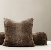 Luxe Faux Fur Decorative Pillow Cover - Mink