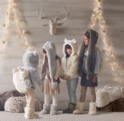 f21b3bac3 Luxe Faux Fur Kids  Animal Hood