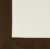 Bordered Cotton Canvas Cordless Roman Shade Swatch