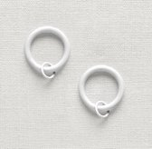 Classic Loop Rings Set of 7 - Distressed White