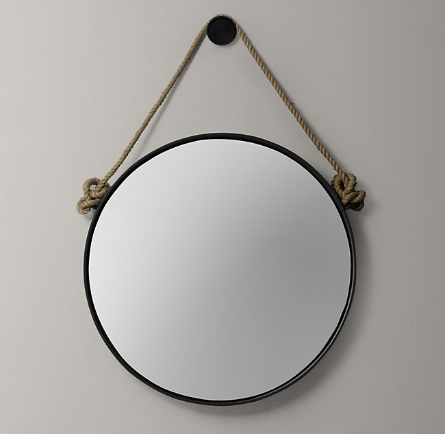 Relatively Iron And Rope Mirror - Black KZ46