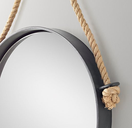Iron And Rope Mirror Black