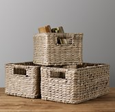 Seagrass Shelf Basket - Ash