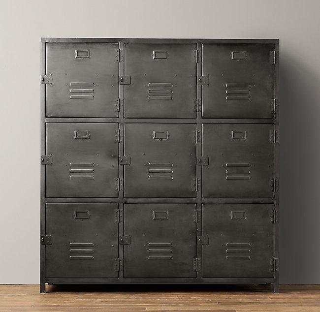 Vintage Locker 9 Door Cabinet