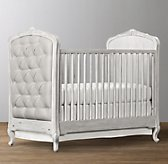 Colette Tufted Crib - Antique Grey Mist