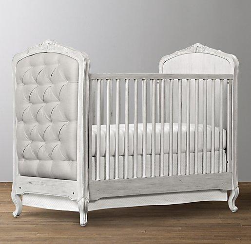 Colette Tufted Crib Antique Grey Mist