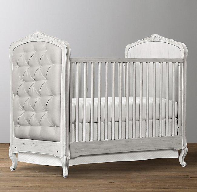 Colette Tufted Crib - Antique Grey Mist