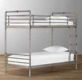 Industrial Steel Pipe Twin-Over-Twin Bunk Bed