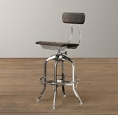 Mini Vintage Toledo Stool - Chrome