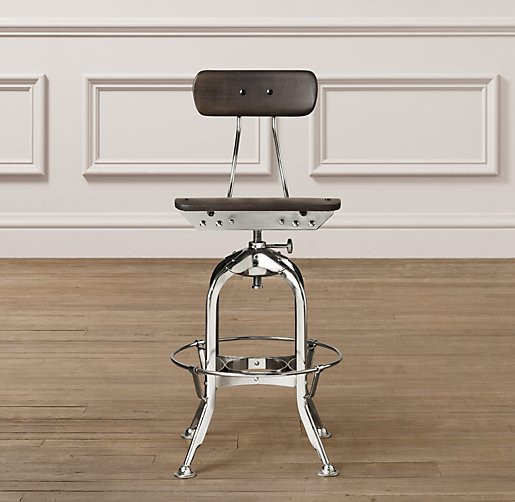 Mini Vintage Toledo Stool Chrome