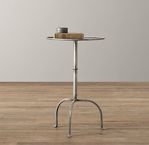 Parisian Side Table Burnished Pewter