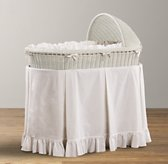 Heirloom Wicker Bassinet & Mattress - Whitewashed Natural