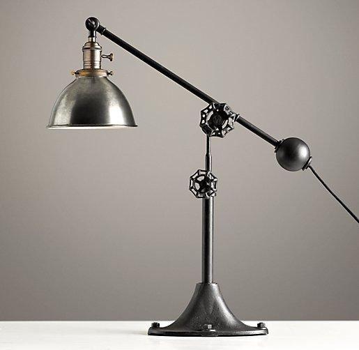 Industrial Era Task Lamp Pewter